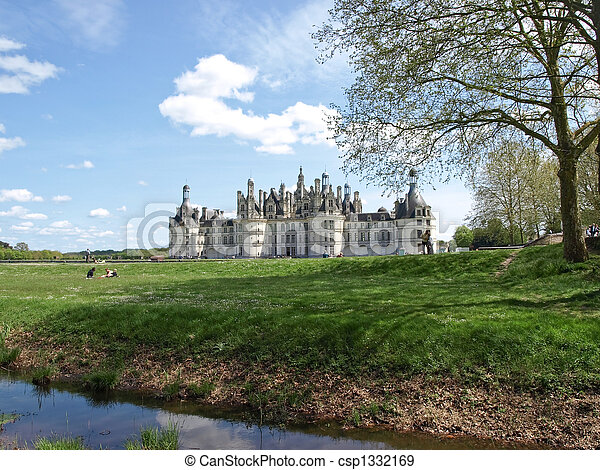 Royal castle Chambord in France - csp1332169