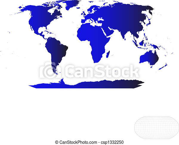 Vector World Map - csp1332250