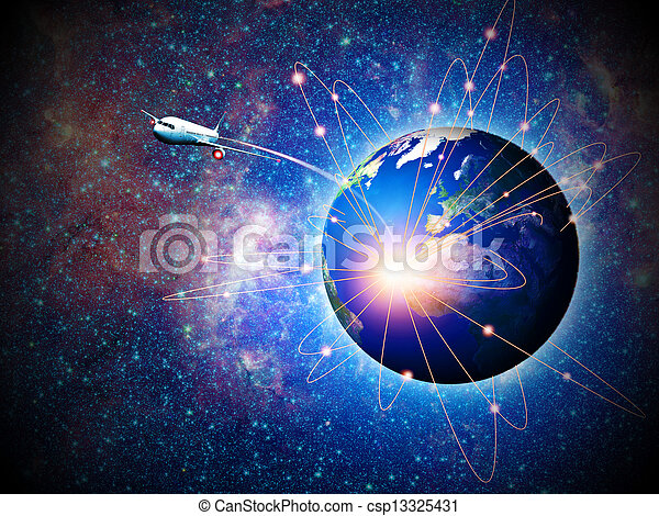 Space transportation and technologies in the future, abstract backgrounds - csp13325431