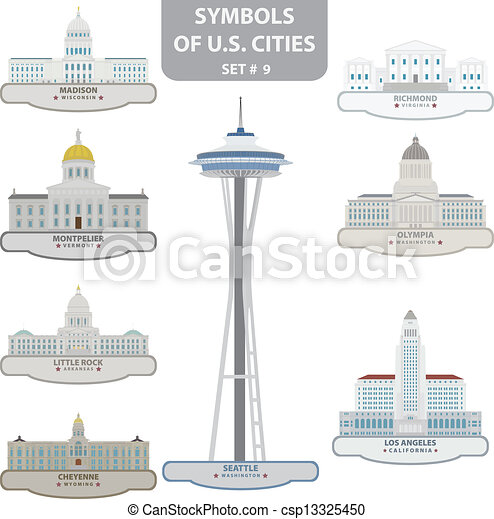Symbols of US cities - csp13325450