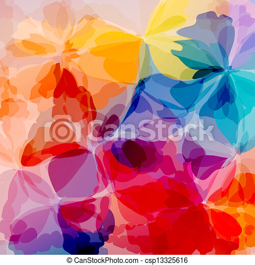 Multicolored background watercolor painting - csp13325616