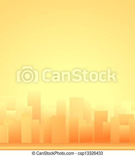 background with city and sunrise   - csp13326433
