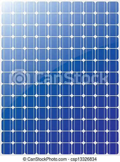 Vectors Of Solar Panel Vector Blue Stripes Csp13326834
