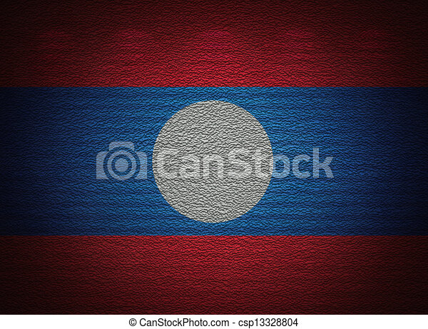 Laotian flag wall, abstract grunge background - csp13328804