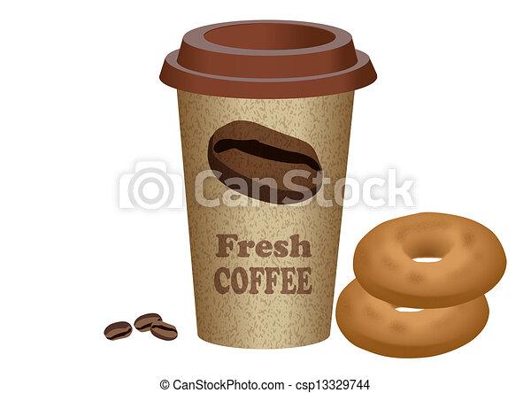 Eps vector de caf comida para llevar comida para for Cafe para llevar