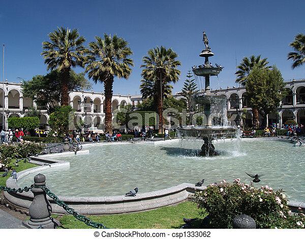 Plaza de armas de Arequipa - csp1333062