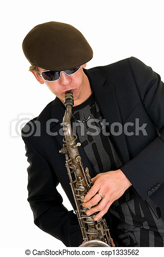 Music performer, saxophone - csp1333562