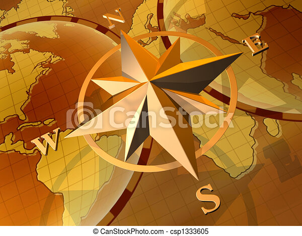Compass rose - csp1333605