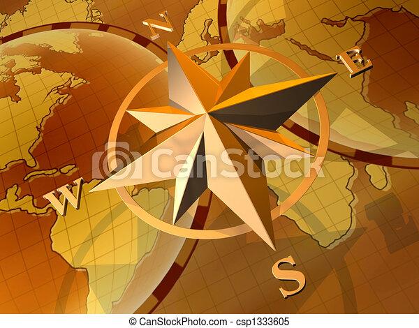 Compass rose - csp1333605