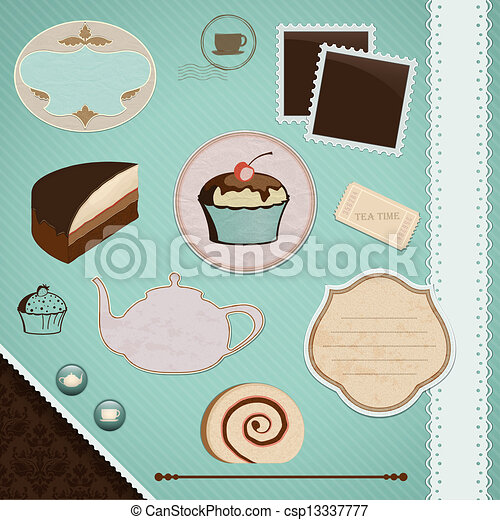 Scrapbooking Set: Tea Time - csp13337777