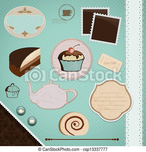 Scrapbooking Set: Tea Time - csp13337777