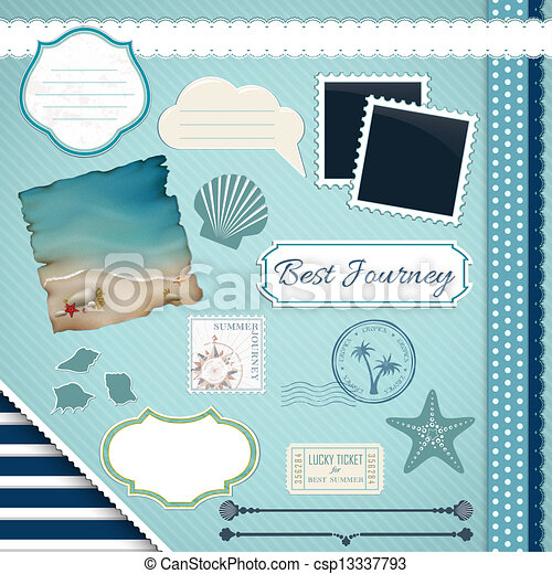 Scrapbooking Set: Summer journey - csp13337793