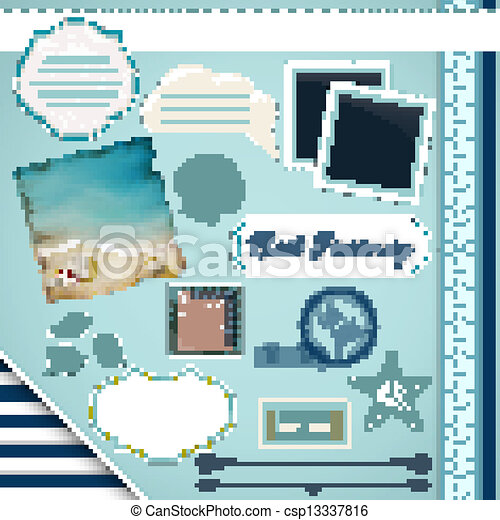 Scrapbooking Set: Summer journey - csp13337816