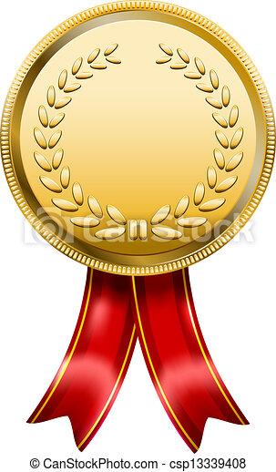 Vector Clipart of Award Medal Rosette Label - Vector Award Medal ...