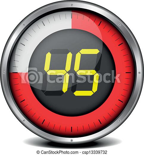 Vecteur minuteur num rique 45 banque d 39 illustrations - Minuteur 10 minutes ...