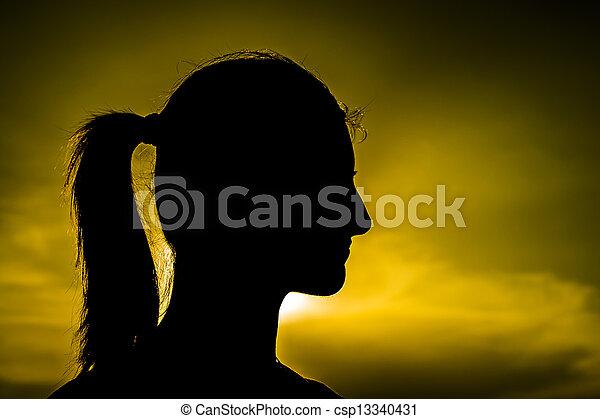 Girl Silhouette - csp13340431