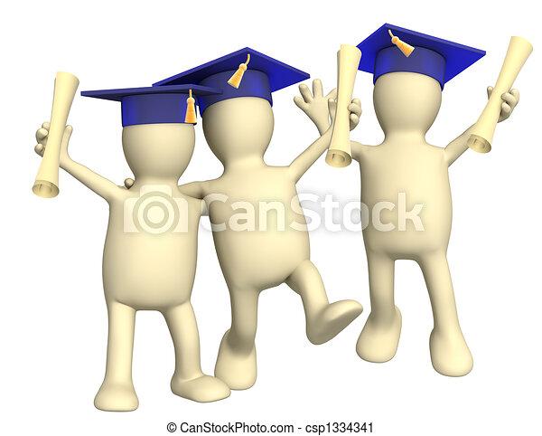 Happy friends schoolfellows  - csp1334341