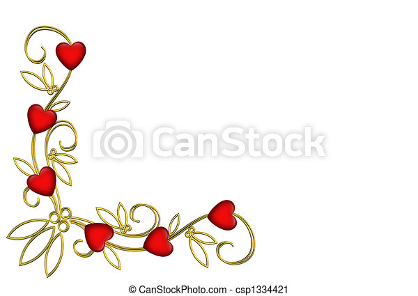 Valentine Corner design isolated - csp1334421