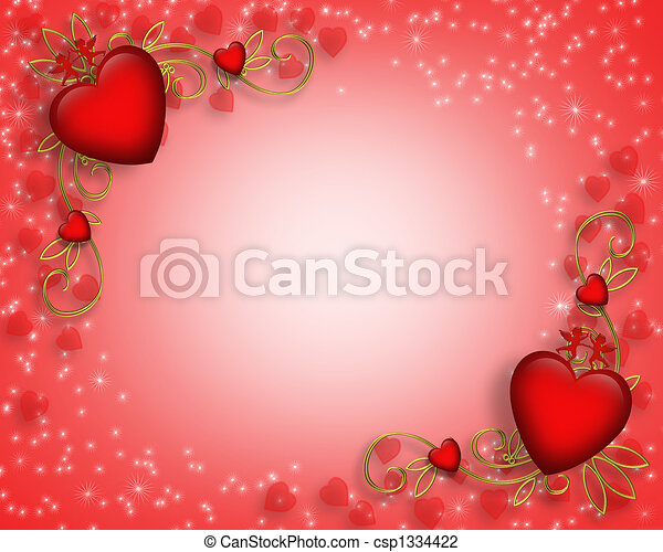 valentines, borda, dia - csp1334422