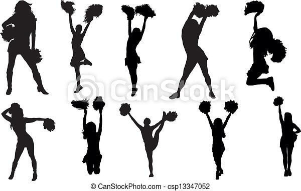 Vector - Cheerleaders - stock illustration, royalty free illustrations ...