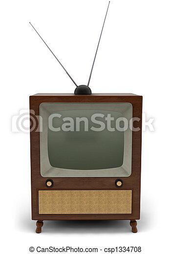 TV,  retro - csp1334708