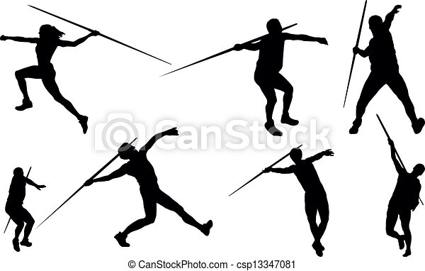 Javelin throw - csp13347081