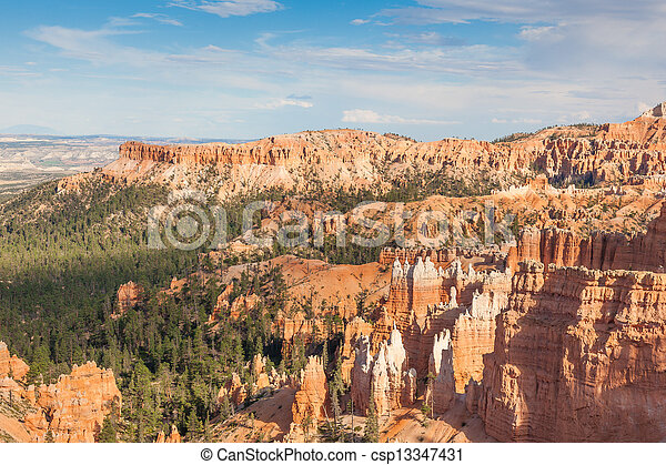 Geological formations in Bryce canyon national park in Utah - csp13347431