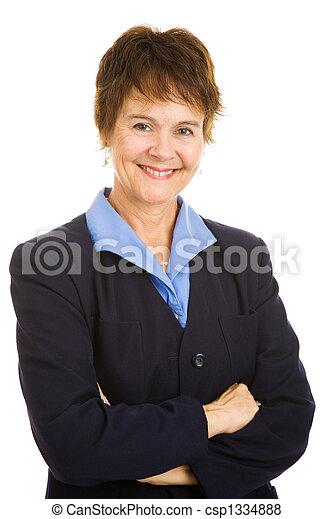 Friendly Mature Businesswoman - csp1334888