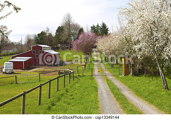 Family farm in rural Oregon. - csp13349144