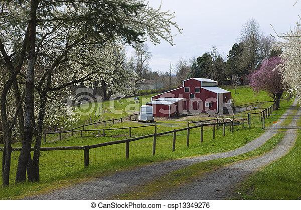 Family farm in rural Oregon. - csp13349276