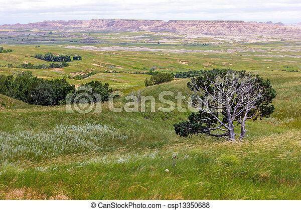 Vistas of Badlands National Park, USA - csp13350688