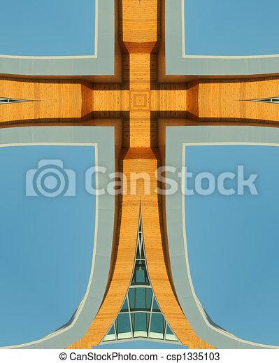 kaleidoscope cross:  wood design - csp1335103