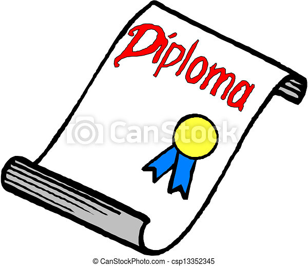 EPS Vector of Diploma csp13352345 - Search Clip Art ...