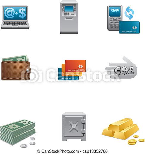 banking icon set - csp13352768