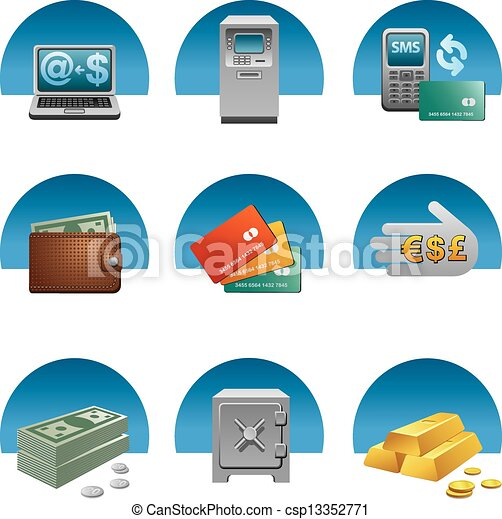 banking icon set - csp13352771