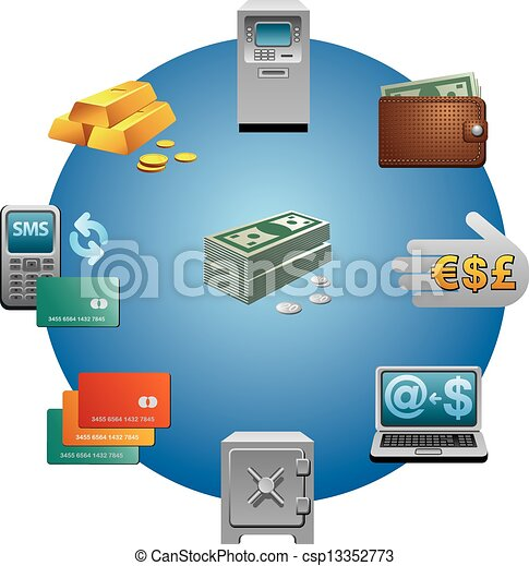 banking icon set - csp13352773