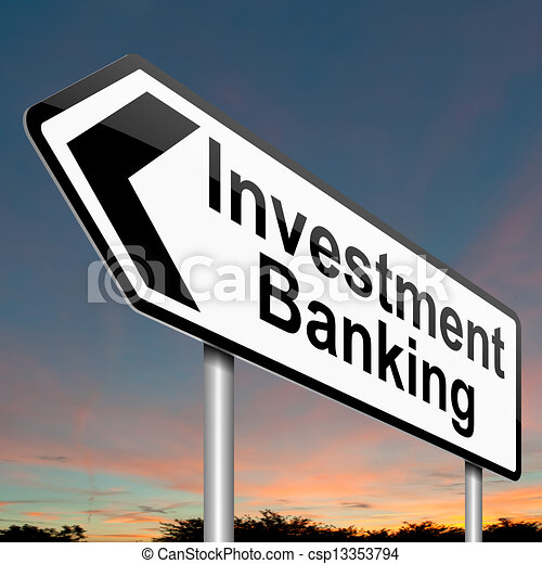 Investment banking concept. - csp13353794