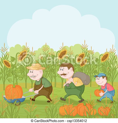 ... farmers:... csp13354012 - Search Clipart, Illustration, Drawings, and