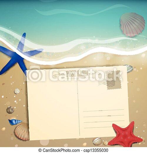 Vector Summer Beach Design - csp13355030