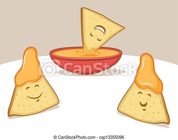 Chips And Dip Clip Art Chips and dipping cheese