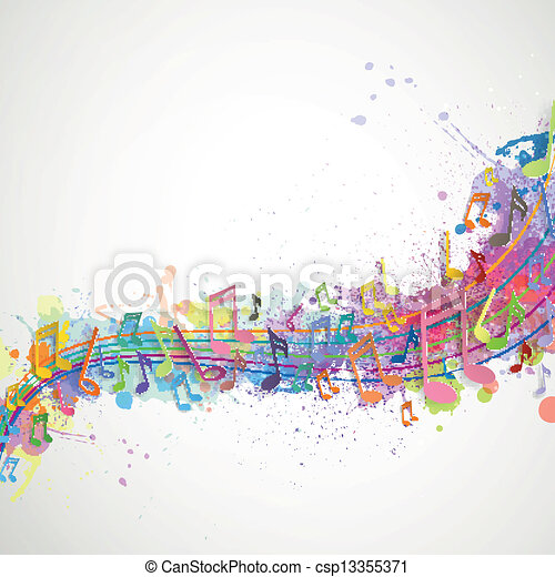 Vector Background with Music notes - csp13355371