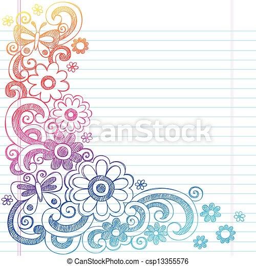 Doodle Border Flower Wwwimgarcadecom Online Image