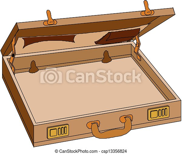 Vector Illustration of Open case, vector - Open case, vector ...