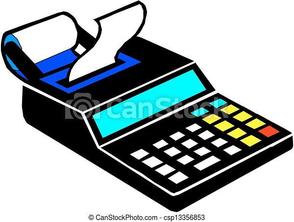 Clipart Vector of Mobile Cash Register - Mobile Cash Register ...