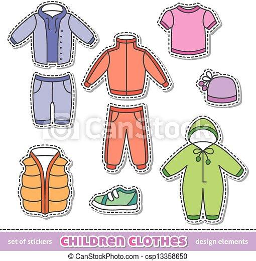 Clipart Vector of children clothes - set of children ...: http://www.canstockphoto.com/children-clothes-13358650.html