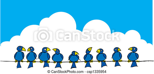 Birds on a wire - csp1335954