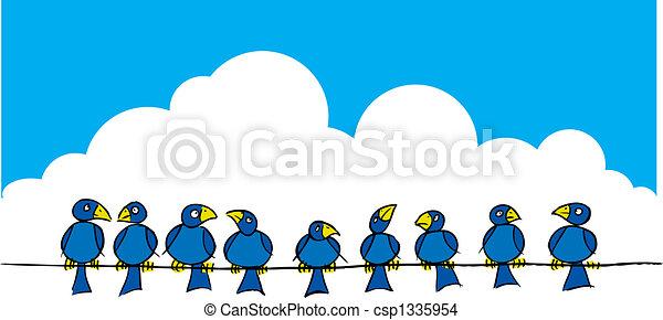 Birds on a wire - csp1335954