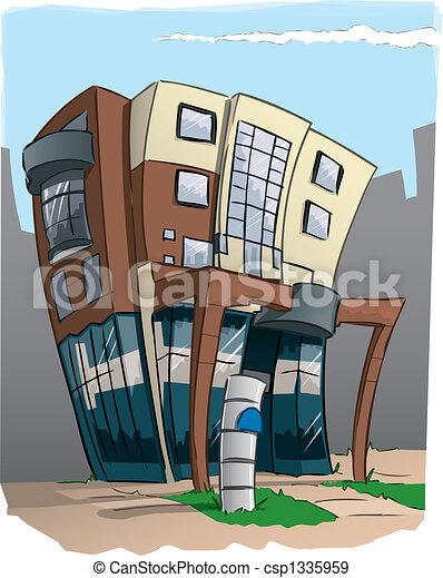 stock de ilustraciones de edificio moderno caricatura oficina moderno oficina. Black Bedroom Furniture Sets. Home Design Ideas