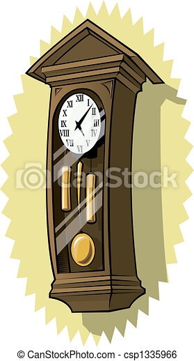 Stock Illustration Of Grandfather Clock On Wall Csp1335966