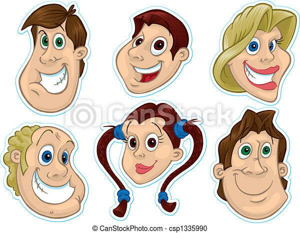Smiling Face Fridge Magnet/Stickers #2 - csp1335990